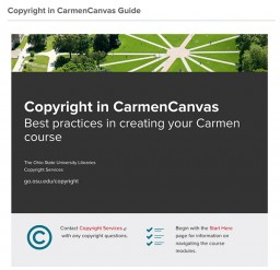 Copyright in CarmenCanvas Guide