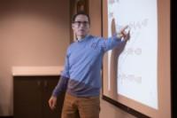 Professor Jim Davis in his classroom